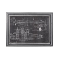 Uttermost 36200 Plane Blueprint Light Gray Wash Blueprint Wall Art thumb
