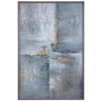 Gray Checkerboard 62 X 42 inch Hand Painted Canvas, Abstract Art