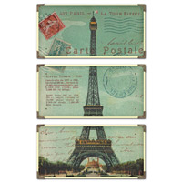 Uttermost Eiffel Tower Carte Postale Set of 3 40917