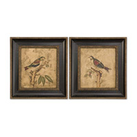 Uttermost Colorful Birds On Branch I II - Set of 2 Art 41161