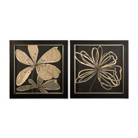 Uttermost 41181 Oxygen Flower & Scribble n/a Wall Art thumb