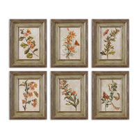 Uttermost 41258 Orange Florals I n/a Wall Art thumb