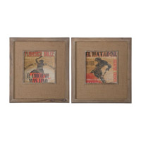 Uttermost Matador and Flamenco Framed Art (Set of 2) 41379