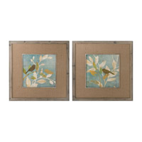Uttermost Turqouise Bird Silhouettes Framed Art (Set of 2) 41395