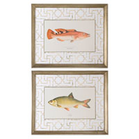 Uttermost Wrass and Rudd Fish Art (Set of 2) 41413