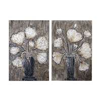 Clear Water Stems Hand Painted Floral Art