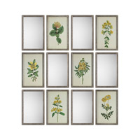 Diamond Florals And Mirrors Silver Wall Art
