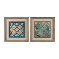 Uttermost Stained Glass Set of 2 Framed Art 41512