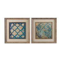 Uttermost Stained Glass Set of 2 Framed Art 41512