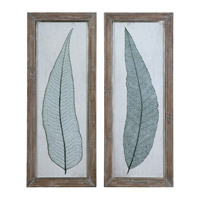 Tall Leaves Framed Wall Art