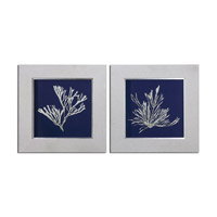 Uttermost Seaweed On Navy Set of 2 Floral Art 41520