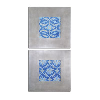 Uttermost Royal Ikat Set of 2 Floral Art 41522