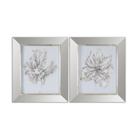 Uttermost Silvery Blue Tulips Set of 2 Mirrors in Blue 41531