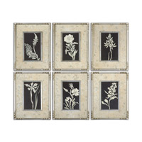 Uttermost Glowing Florals Set of 6 Framed Art 41535