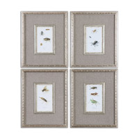 Uttermost Insect Study Set of 4 Framed Art 41536