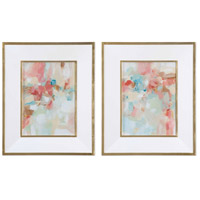 A Touch Of Blush And Rosewood Fences Pastel Abstract Wall Art