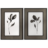 Solitary Sumi-e 42 X 30 inch Floral Prints, Set of 2