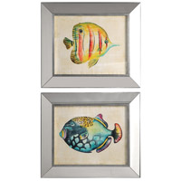 Aquarium Fish 27 X 23 inch Fish Prints, Set of 2