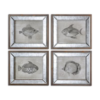 Uttermost Mirrored Fish Set of 4 Framed Art 41700