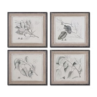 Uttermost Sepia Leaf Study Art (Set of 4) 51073