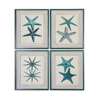 Uttermost Coastal Starfish Set of 4 Framed Art 51093