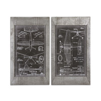 Uttermost Aeronautic Blueprints Blueprint Wall Art 51095