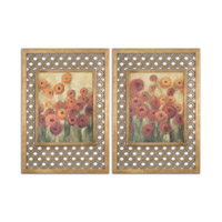 Uttermost Ranunculi Field Framed Art in Gold Leaf 51096