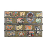 Uttermost International Trunk Wall Art in Brown 51098