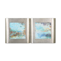 Uttermost Colorful Connections Wall Art in Champagne Silver Leaf 51099