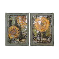 Uttermost Sunflower Farmers Market Set of 2 Wall Art 55003