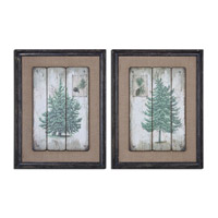 Uttermost Evergreens Set of 2 Vintage Art 55007