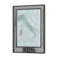 Italy Map Framed Art