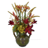 Uttermost Daylilies In Tuscan Urn Botanical 60084