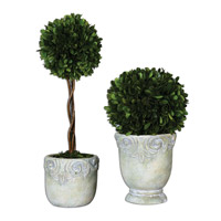 Uttermost Preserved Boxwood Set of 2 Ball Topiaries 60112