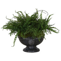 Amberly Aged Black Centerpiece, Fern