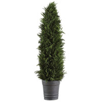 Cypress Cone Aged Dark Gray Topiary