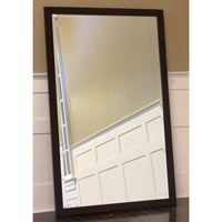 Signature 48 X 33 inch Faux Zebrawood Mirror Home Decor