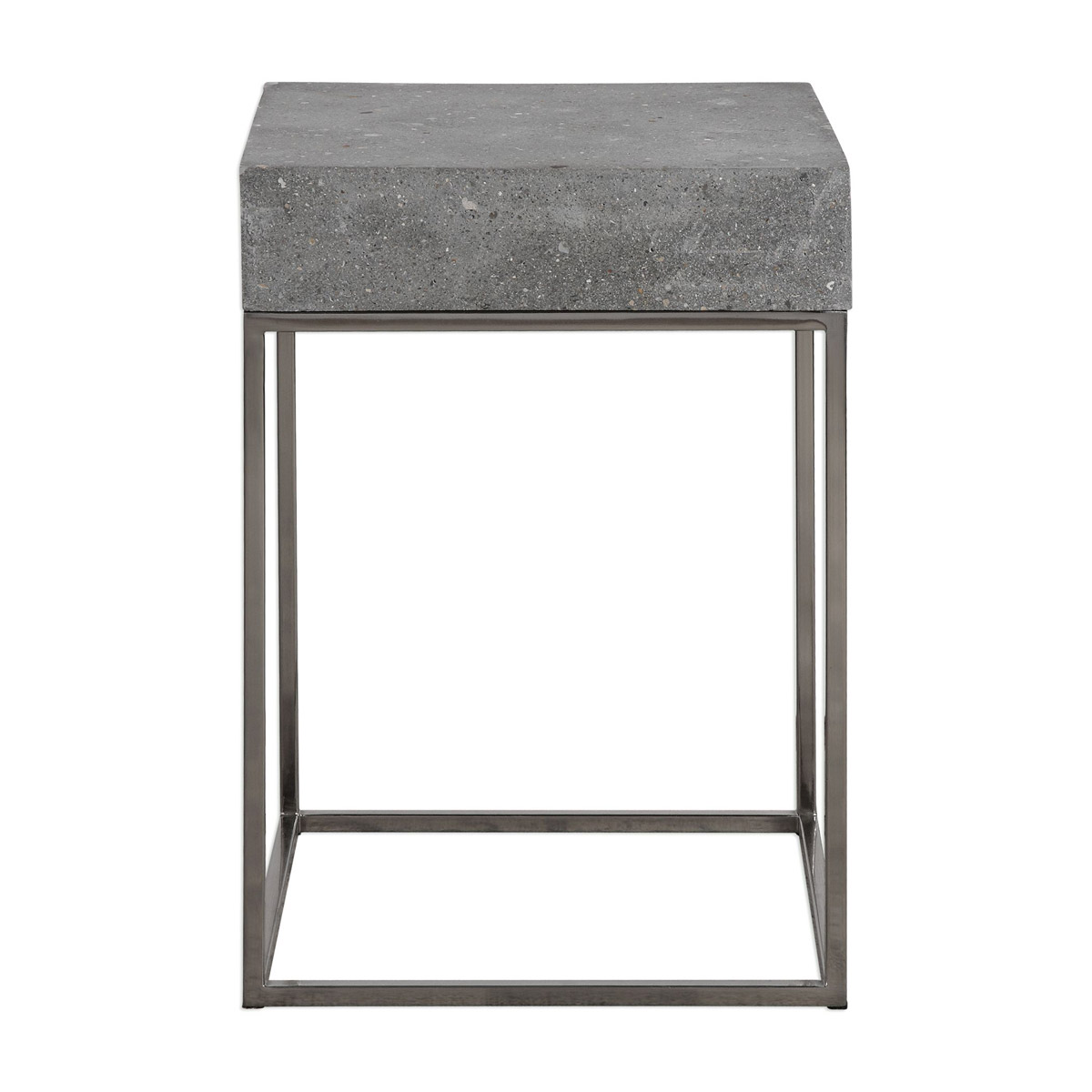 Details About Uttermost 24735 Jude 20 X 14 Inch Concrete End Table David Frisch