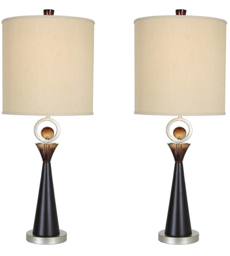 Van Teal 130772PR Occasion 36 inch 150 watt Silver Jacobean and Cafe Noir Table Lamp Portable Light, You Will Remember, Set of 2 photo thumbnail