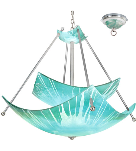 Van Teal 615950 Episode 6 Light 48 Inch Brilliant Silver Chandelier Ceiling Private Events