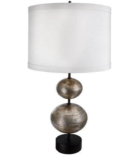 Lightly Antiqued Silver Leaf Table Lamps