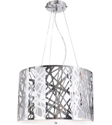 Van Teal 812850 Gallium 3 Light 19 Inch Chrome Pendant Ceiling