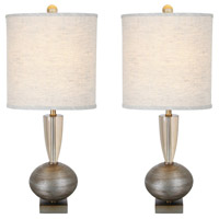 Van Teal Silver Acrylic Table Lamps