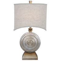 Ring O 29 inch 150 watt Brilliant Silver Jacobean Table Lamp Portable Light, Ofra