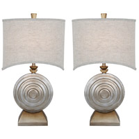 Van Teal 131872PR Ofra 29 inch 150 watt Brilliant Silver Jacobean Table Lamp Portable Light Ring O Set of 2