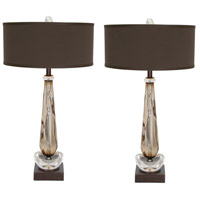 Walk By Me 33 inch 60 watt Dark Tobacco Table Lamp Portable Light, Walk to Me, Set of 2