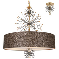 Sunburst 8 Light 32 inch Gold Leaf and Artisteel Chandelier Ceiling Light, Burst