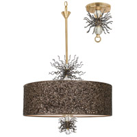 Thunderburst 6 Light 21 inch Gold Leaf and Artisteel Chandelier Ceiling Light, Burst