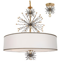 Quasar 8 Light 32 inch Gold Leaf and Artisteel Chandelier Ceiling Light