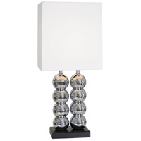 Van Teal 480572 Twos World 32 inch 150 watt Chrome and Matte Black Table Lamp Portable Light
